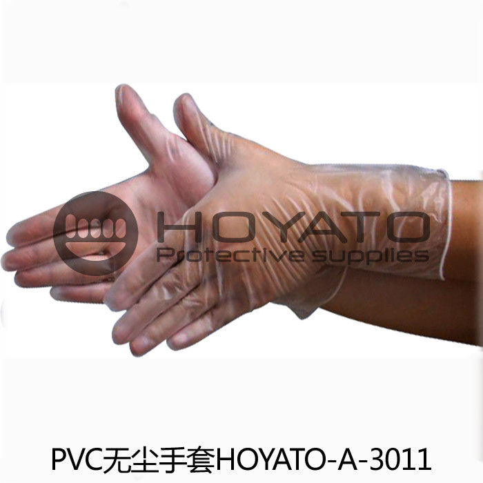 Transparent Anti Static Disposable Gloves , Acid Resistant ESD Clean Room Gloves
