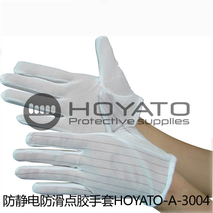 Anti Slip Anti Static Gloves Comfortable Durable Safety ESD Dotted Gloves
